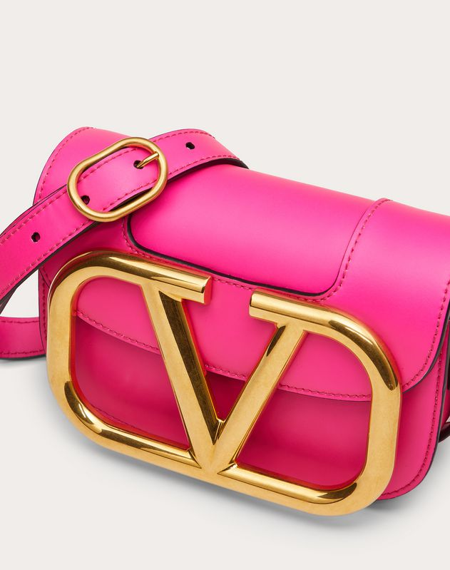 Small Supervee Neon Calfskin Crossbody Bag