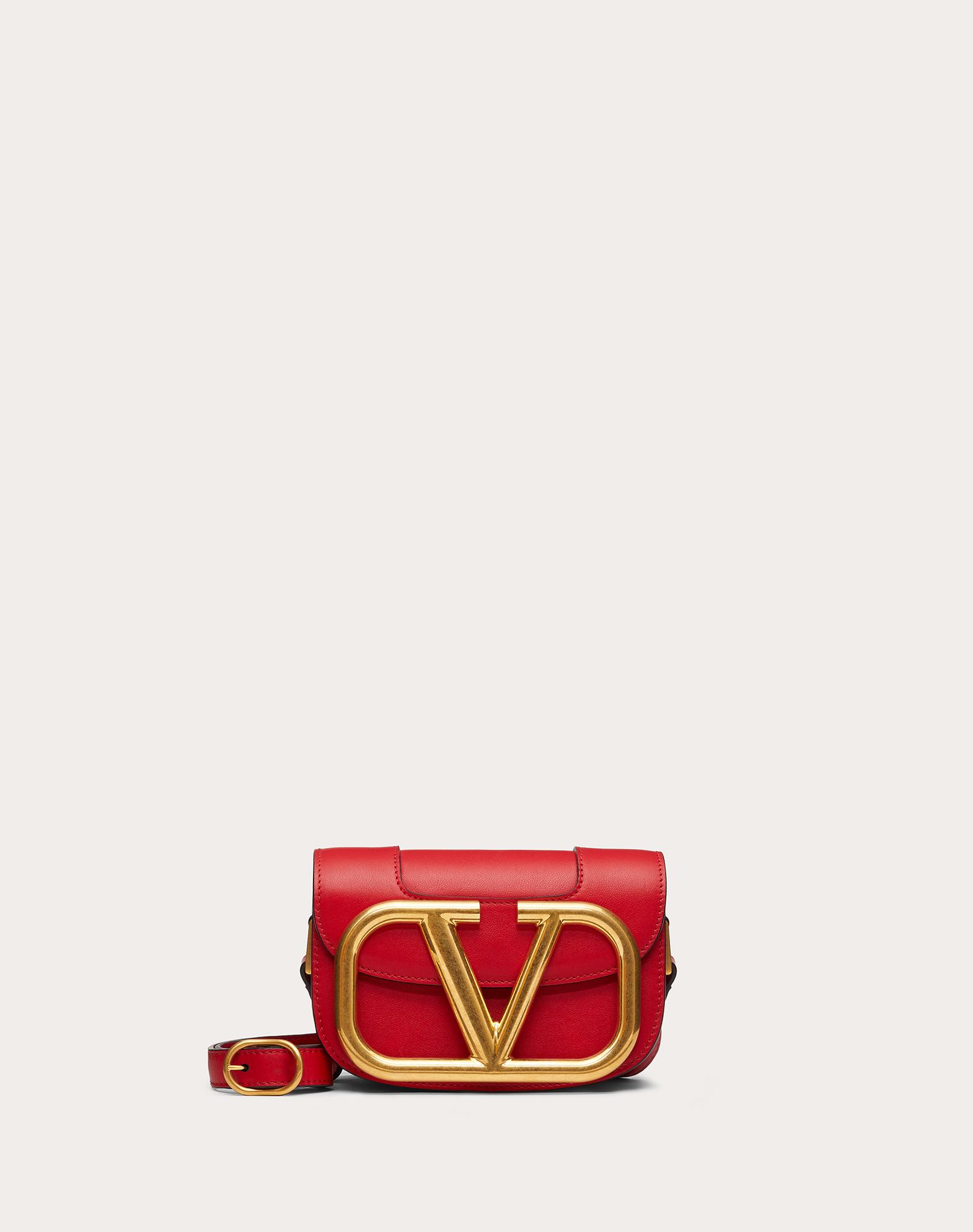 Small Supervee Calfskin Crossbody Bag