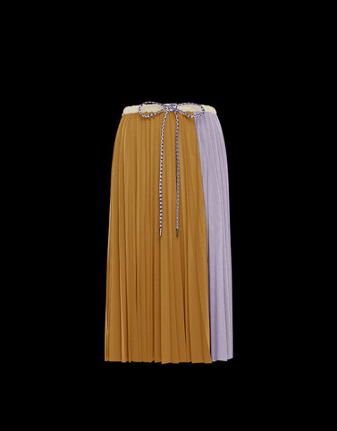 SKIRT Ochre Skirts and Trousers
