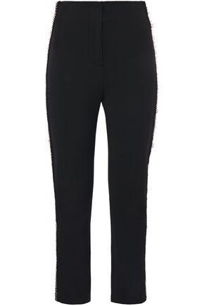 JONATHAN SIMKHAI Embellished stretch-crepe slim-leg pants