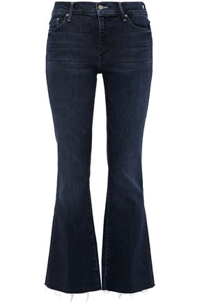 MOTHER Frayed high-rise flared jeans