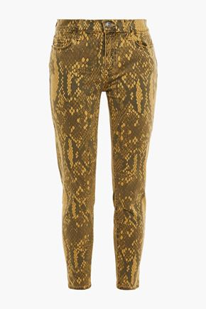 CURRENT/ELLIOTT The Stiletto snake-print mid-rise skinny jeans
