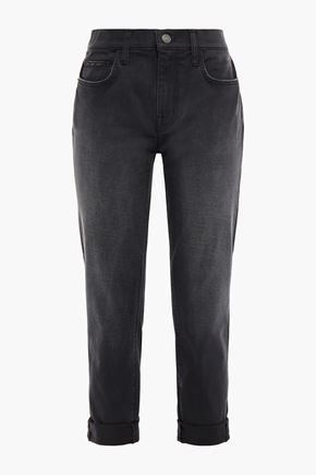 CURRENT/ELLIOTT The Helix high-rise straight-leg jeans