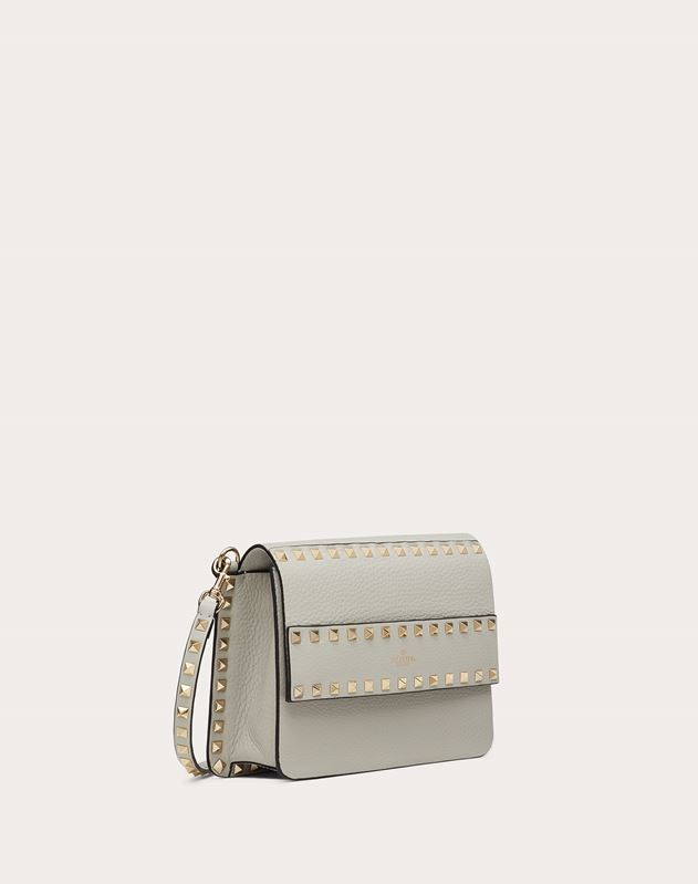 Small Rockstud Grainy Leather Crossbody Bag