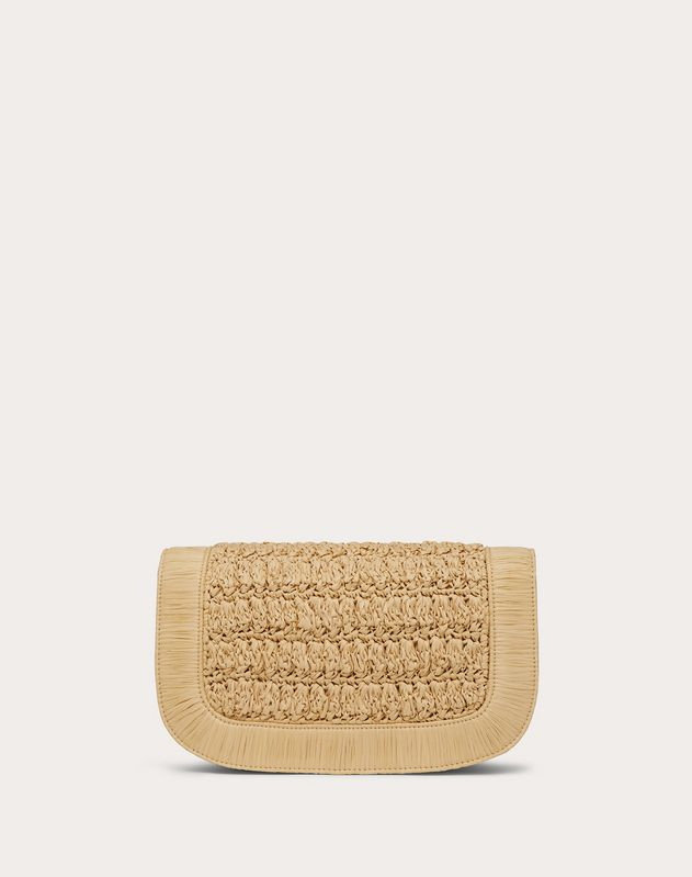 Supervee Raffia Crossbody Bag