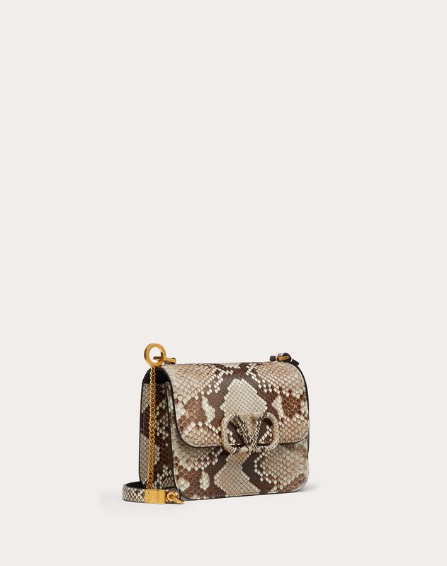 Small VSLING Python Skin Shoulder Bag