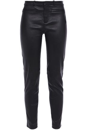 EQUIPMENT Stretch-leather skinny pants