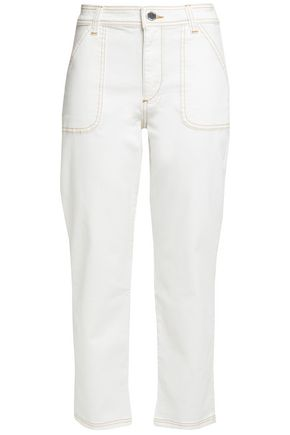 CLAUDIE PIERLOT High-rise slim-leg jeans