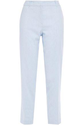 CLAUDIE PIERLOT Cropped slub linen-blend tapered pants
