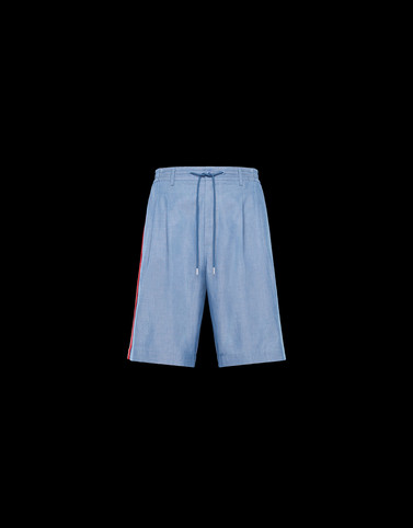 BERMUDA Light blue Trousers Man
