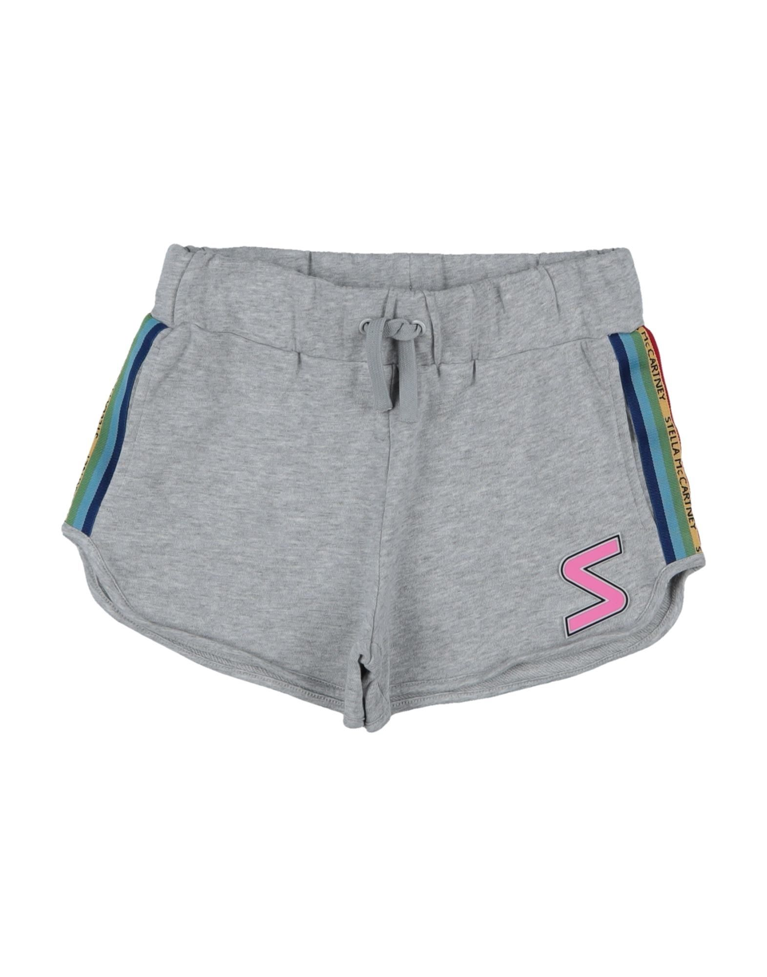 STELLA McCARTNEY KIDS Shorts. jersey, side seam stripes, logo, solid color, mid rise, slim fit, drawstring closure, multipockets, wash at 30degree c, do not dry clean, iron at 110degree c max, do not bleach, do not tumble dry. 100% Polyester