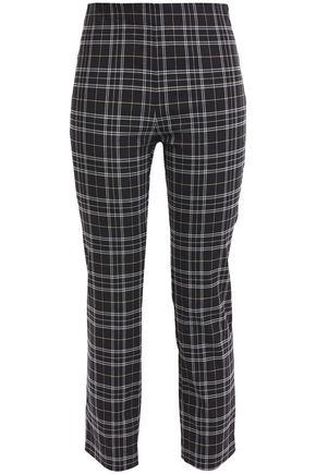 BAILEY 44 Jameson cropped checked stretch-cotton slim-leg pants