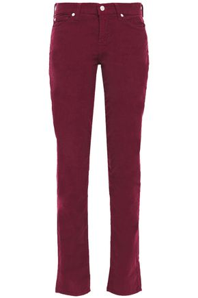 7 FOR ALL MANKIND Roxanne cotton-blend corduroy slim-leg pants
