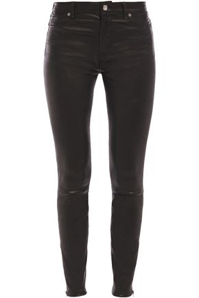 7 FOR ALL MANKIND Leather skinny pants