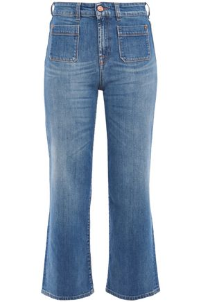 7 FOR ALL MANKIND Cropped high-rise bootuct jeans