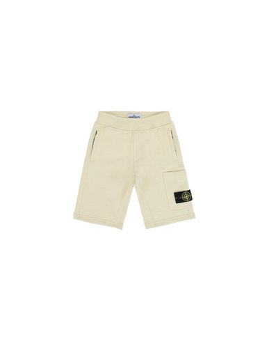 STONE ISLAND KIDS 60344  FLEECE BERMUDA SHORTS Man Lemon USD 77
