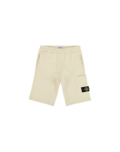 STONE ISLAND JUNIOR FLEECE BERMUDA SHORTS Man 60344  f