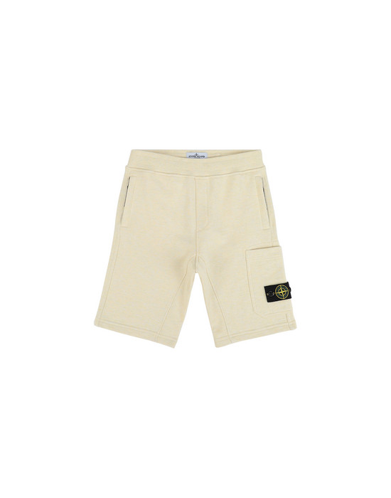 STONE ISLAND JUNIOR 60344  FLEECE BERMUDA SHORTS Man Lemon