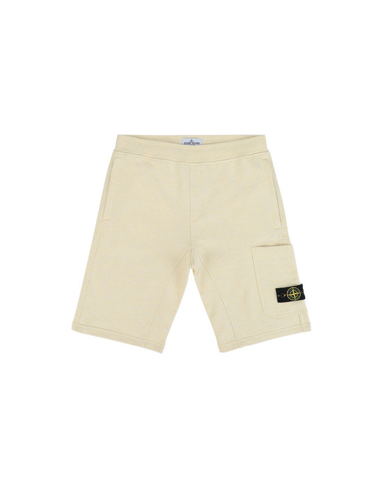 FLEECE BERMUDA SHORTS Man Front STONE ISLAND TEEN