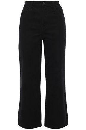 J BRAND Cropped cotton-blend corduroy straight-leg pants