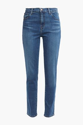 "J BRAND Ruby 30"" high-rise slim-leg jeans"