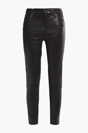 J BRAND Stretch-leather skinny pants