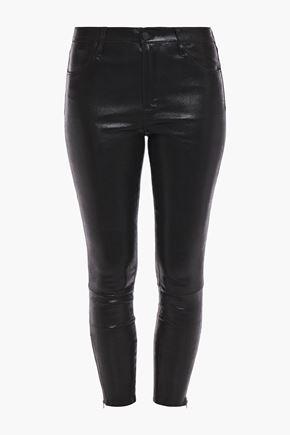 J BRAND Edita glossed stretch-leather leggings