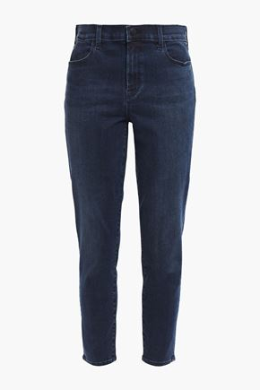 J BRAND Cropped high-rise slim-leg jeans