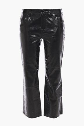 J BRAND Selena cropped crinkled glossed-leather pants
