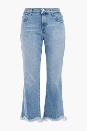 J BRAND Selena frayed high-rise kick-flare jeans
