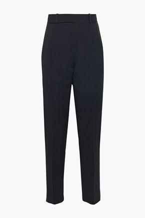 EQUIPMENT Warsaw embroidered wool-twill slim-leg pants