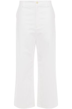 FILIPPA K Laurie cropped stretch-cotton wide-leg pants