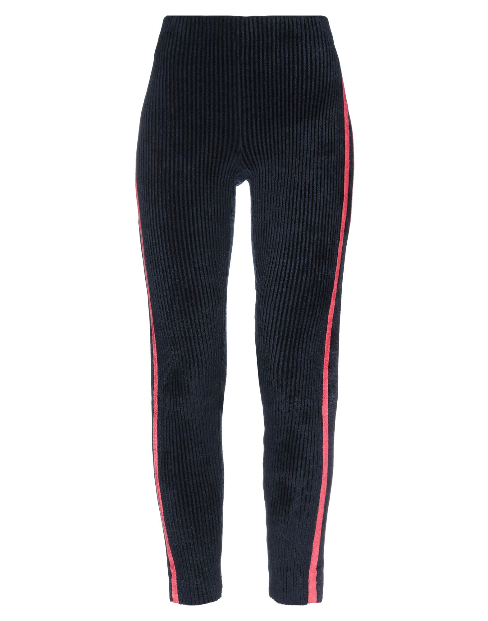 GIORGIO ARMANI Leggings. knitted, ruffles, solid color, mid rise, slim fit, tapered leg, no pockets, large sized. 63% Viscose, 37% Polyamide