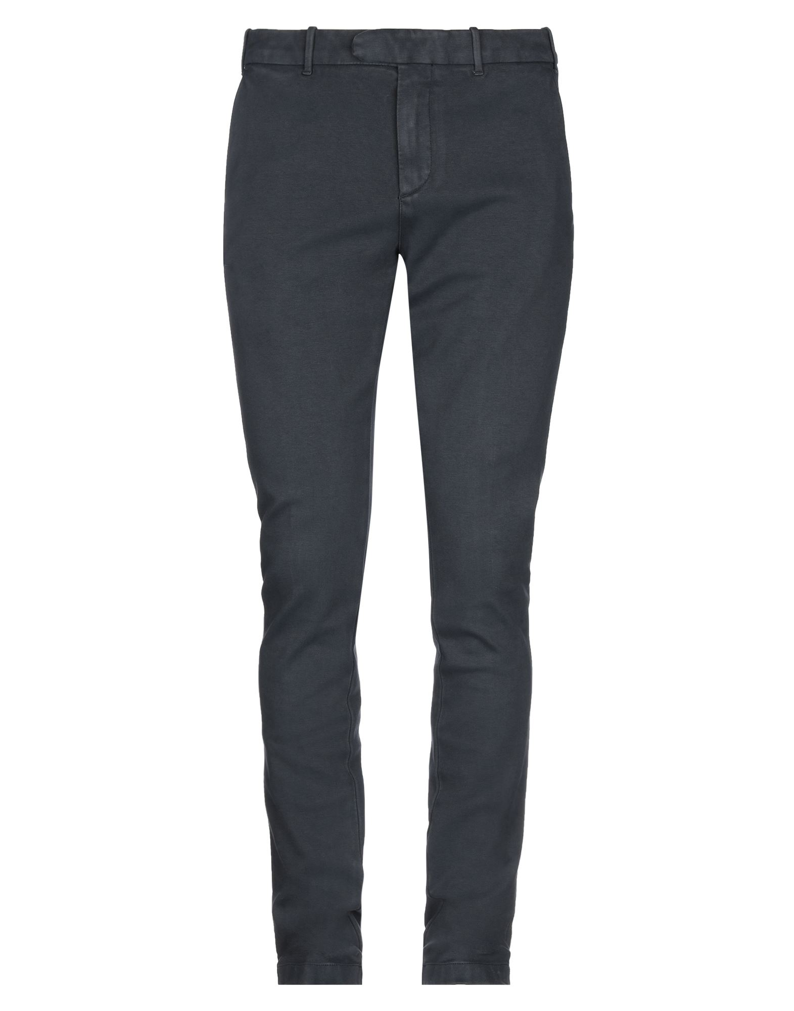 ELEVENTY Casual pants. jersey, no appliqués, basic solid color, mid rise, regular fit, tapered leg, button, zip, multipockets, stretch. 93% Cotton, 7% Elastane