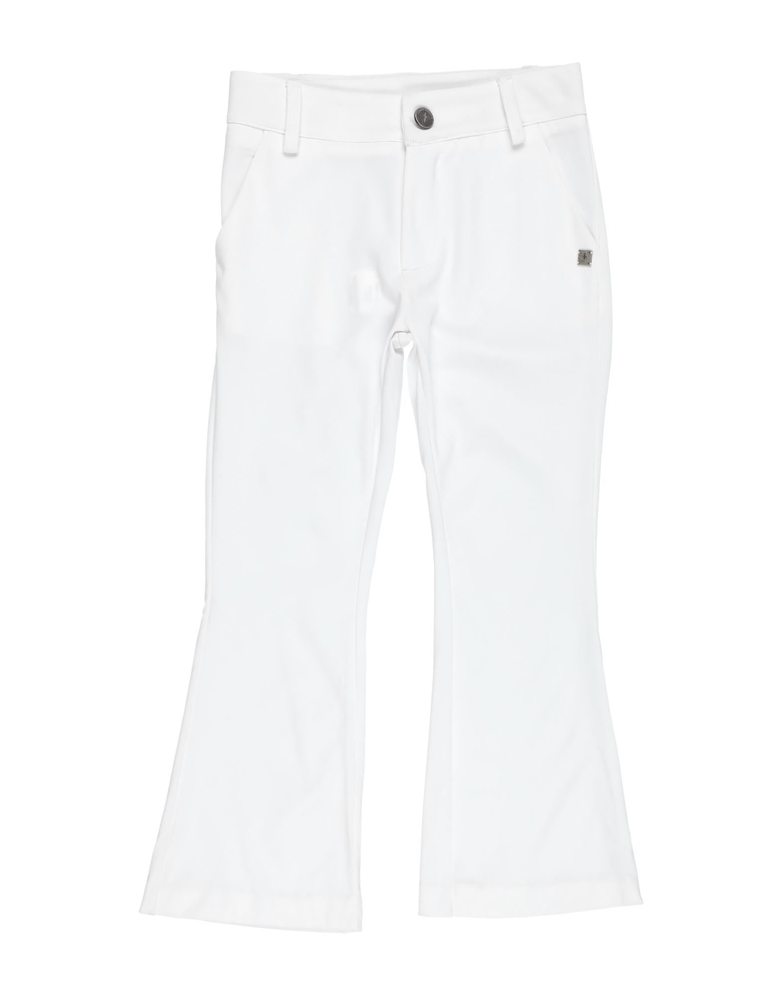 Cesare Paciotti Kids' Casual Pants In White