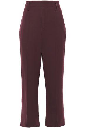 VINCE. Cropped stretch-cady straight-leg pants