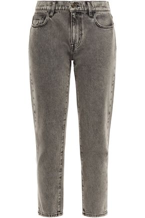 CURRENT/ELLIOTT The Fling cropped mid-rise slim-leg jeans