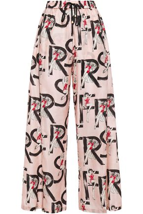 F.R.S. FOR RESTLESS SLEEPERS Apate printed satin-twill wide-leg pants