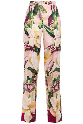 F.R.S. FOR RESTLESS SLEEPERS Zelos floral-print silk-twill straight-leg pants