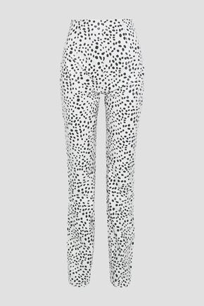 16ARLINGTON Printed leather straight-leg pants