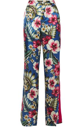F.R.S. FOR RESTLESS SLEEPERS Hydros floral-print satin-jacquard wide-leg pants