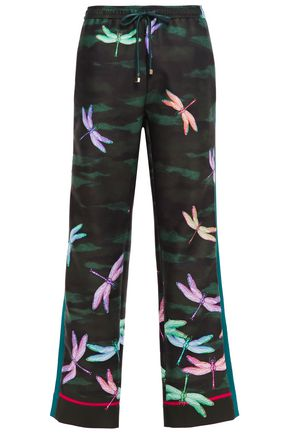 F.R.S. FOR RESTLESS SLEEPERS Ettore printed scuba wide-leg pants
