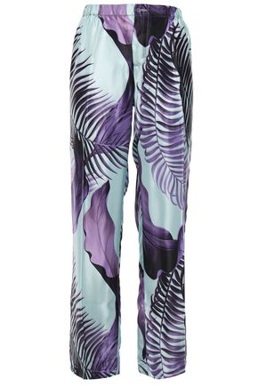 F.R.S. FOR RESTLESS SLEEPERS Etere printed satin-twill wide-leg pants