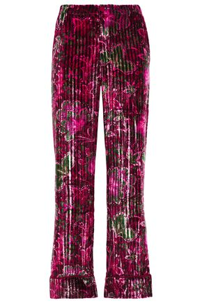 F.R.S. FOR RESTLESS SLEEPERS Etere pleated velvet straight-leg pants