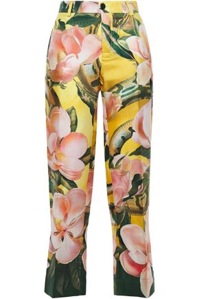 F.R.S. FOR RESTLESS SLEEPERS Tartaro floral-print silk-twill straight-leg pants