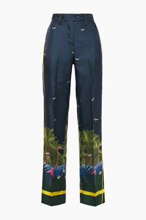 F.R.S. FOR RESTLESS SLEEPERS Zelos printed silk-twill straight-leg pants