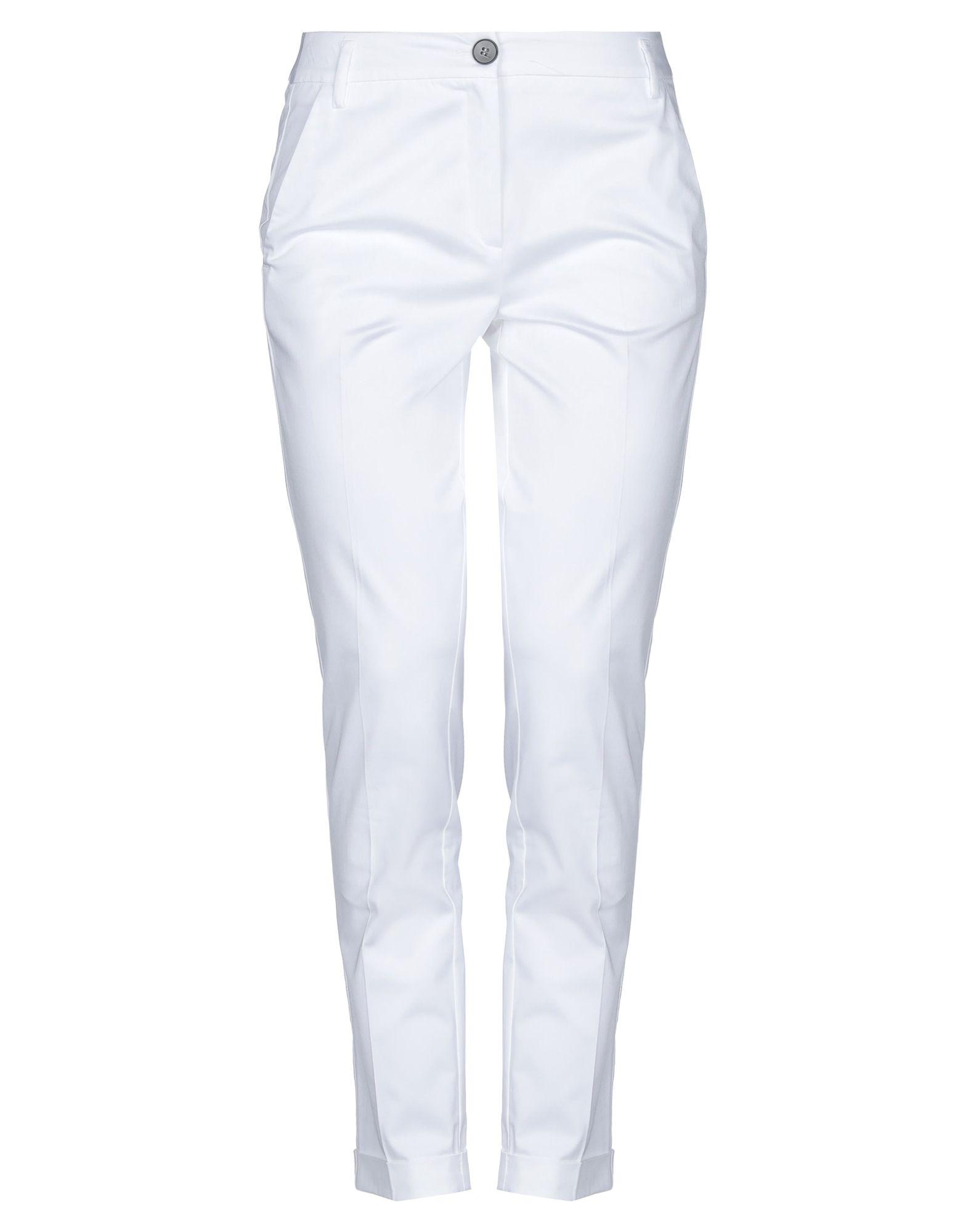 《セール開催中》EMME by MARELLA レディース パンツ ホワイト 38 コットン 96% / ポリウレタン 4%