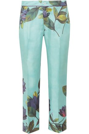 F.R.S. FOR RESTLESS SLEEPERS CEO floral-print silk-satin twill straight-leg pants