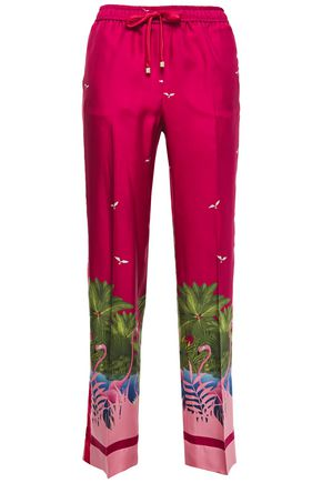 F.R.S. FOR RESTLESS SLEEPERS Etere printed silk-twill straight-leg pants
