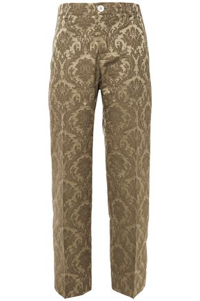 F.R.S. FOR RESTLESS SLEEPERS Tartaro cotton-blend jacquard straight-leg pants